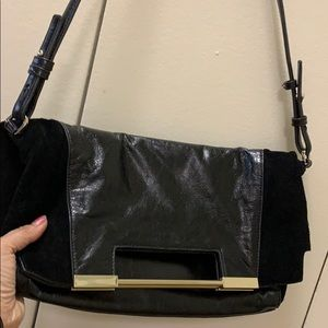 Halston heritage suede and leather crossbody